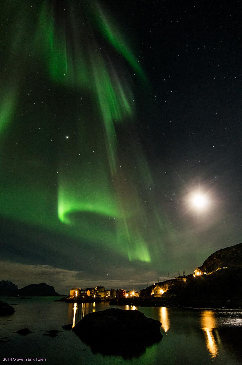 Vinternatt over Nyksund
