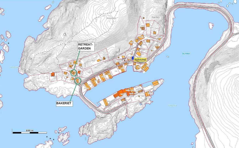 Kart Nyksund 1-2000 m markering 4