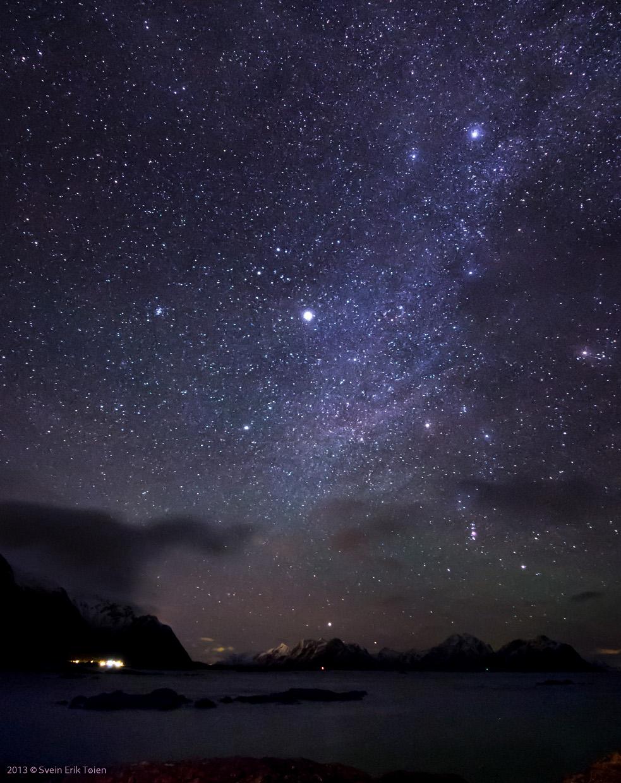 Melkeveien over Prestfjorden, sett fra Nyksund