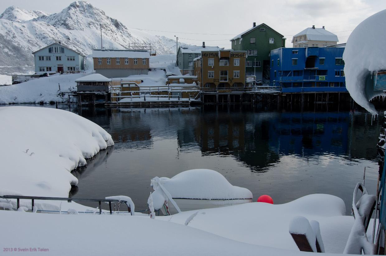 Vinter i Nyksund havn