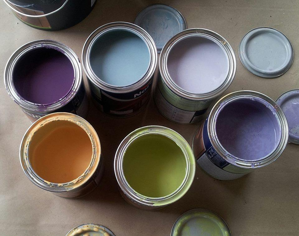 Fargepaletten i atelierleiligheten